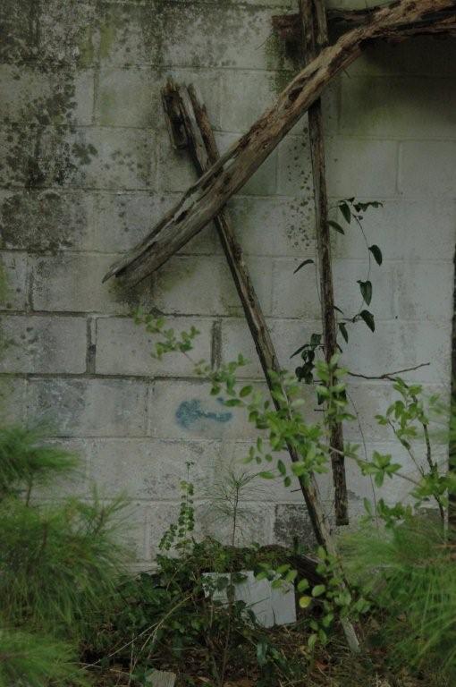 cross on a wall