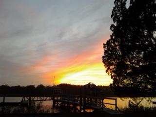 sunset over jeremy creek mcvl