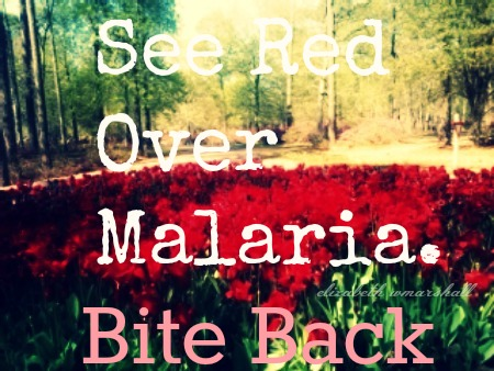 brookgreen tulips See Red over Malaria