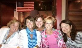 friends at bistro on birthday