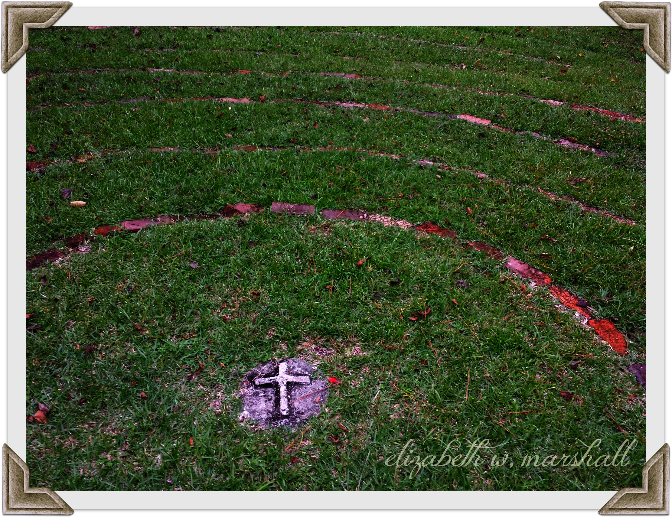 Close Up Cross Labyrinth