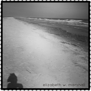 Empty beach shadow profile